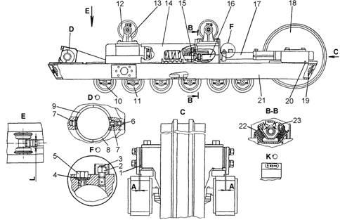 натяжение гусеницы Т-170, Т-130, Б-10